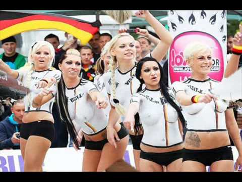 Sexy Body Painting Football Player German Vs Australia