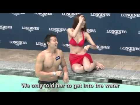 Hot Taiwanese Model Shows Off Longines Watch In Bikini