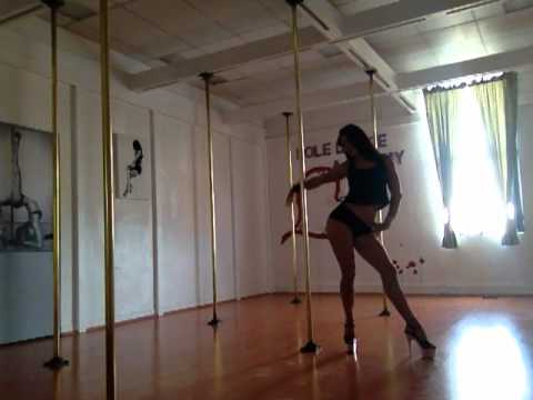 Shimmys Freestyle At The Pole Dance Academy