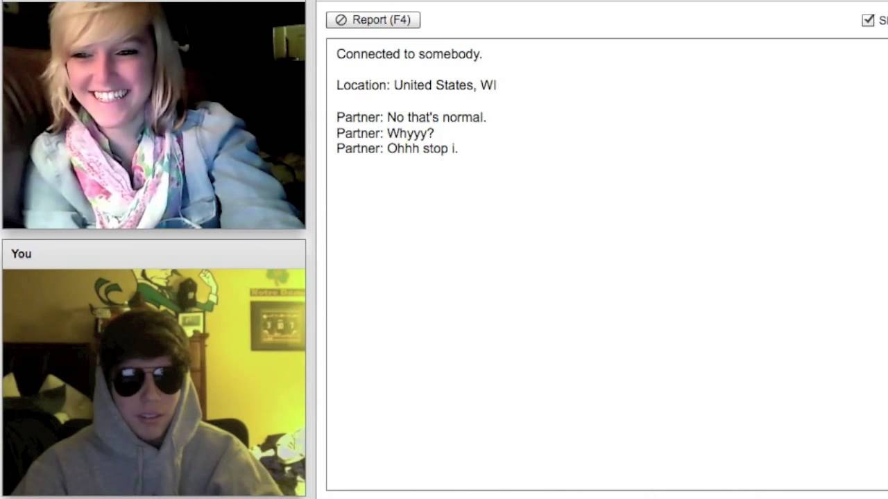 Cute Blonde Girl On Chatroulette