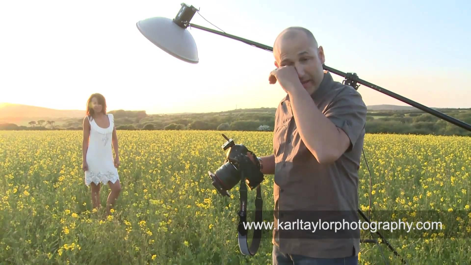 Sexy Fashion Shoot In A Field Of Flowers – Karl Taylor Photography