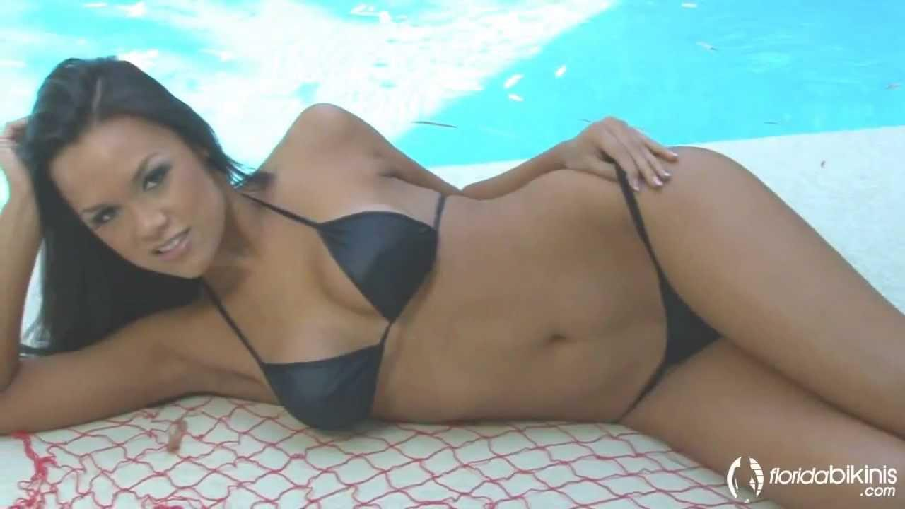 Sexy Bikini Model – Brianna By The Pool That Is One Tiny Micro Bikini!