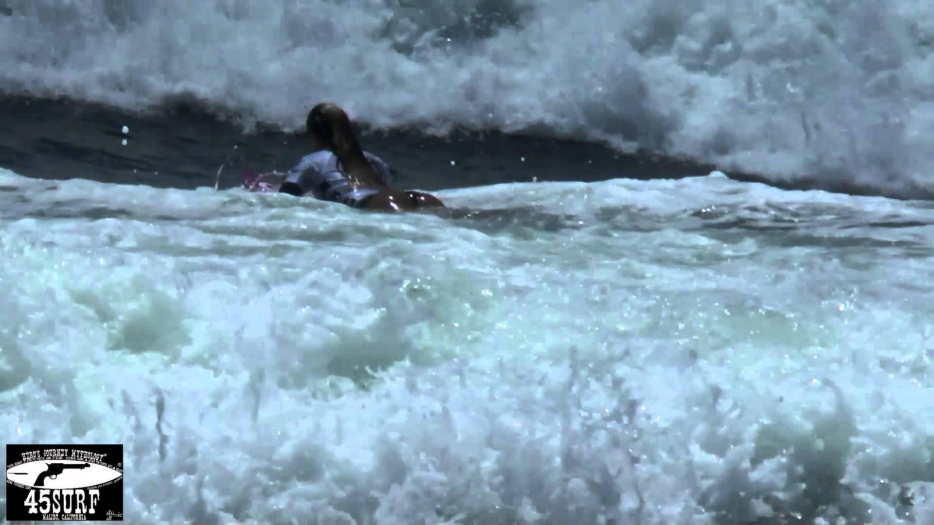 Alana Blanchard Surfing In Bikini Bottoms! Alana Blanchard's Famous Bottom Turn!
