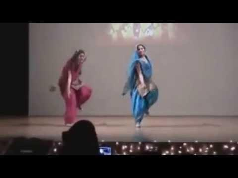 Cute Punjabi Collage Girl Dancing In Stage