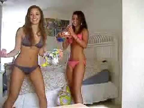 Beautiful Girls Academy; Two Bikini Girls Have Fun At Home
