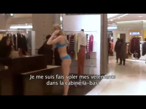 Challenge Sexy Girls In Lingerie In A Parisian Department Store!